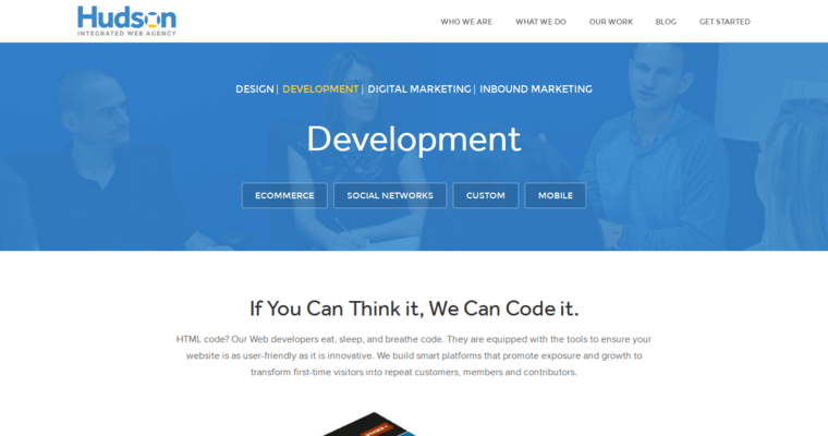 Development Page of Top Web Design Firms in New Jersey: Hudson Integrated