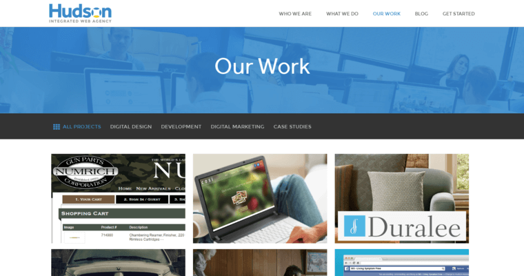 Work Page of Top Web Design Firms in New Jersey: Hudson Integrated