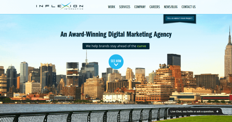 Home Page of Top Web Design Firms in New Jersey: Inflexion Interactive