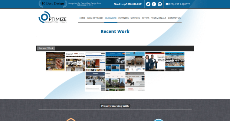 Work Page of Top Web Design Firms in New Jersey: Optimize