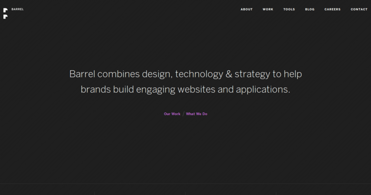 Home Page of Top Web Design Firms in New York: Barrel