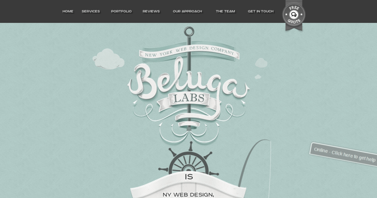 Home Page of Top Web Design Firms in New York: Beluga Lab