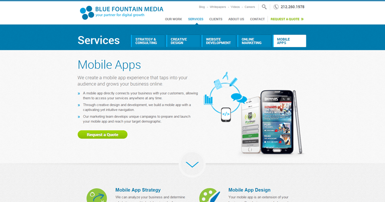Blog Page of Top Web Design Firms in New York: Blue Fountain Media