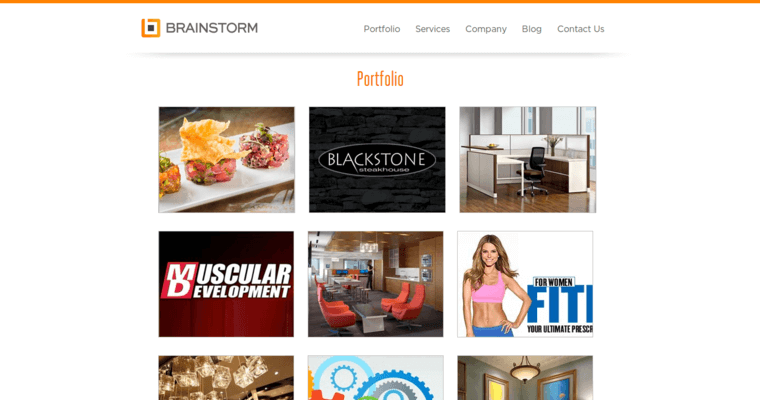 Folio Page of Top Web Design Firms in New York: Brainstorm Studio