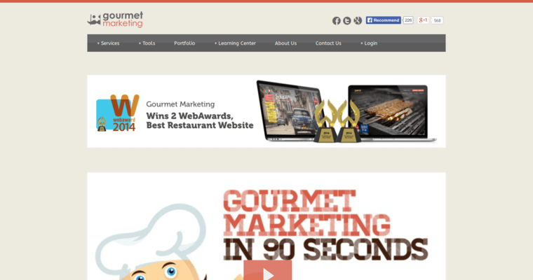 Home Page of Top Web Design Firms in New York: Gourmet Marketing