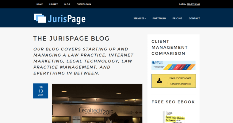 Blog Page of Top Web Design Firms in New York: JurisPage