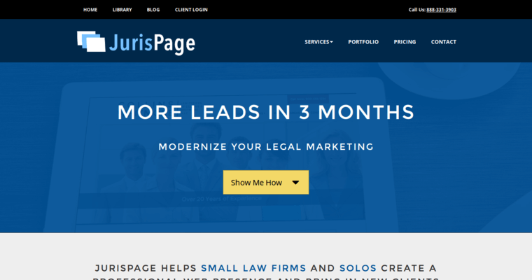 Home Page of Top Web Design Firms in New York: JurisPage