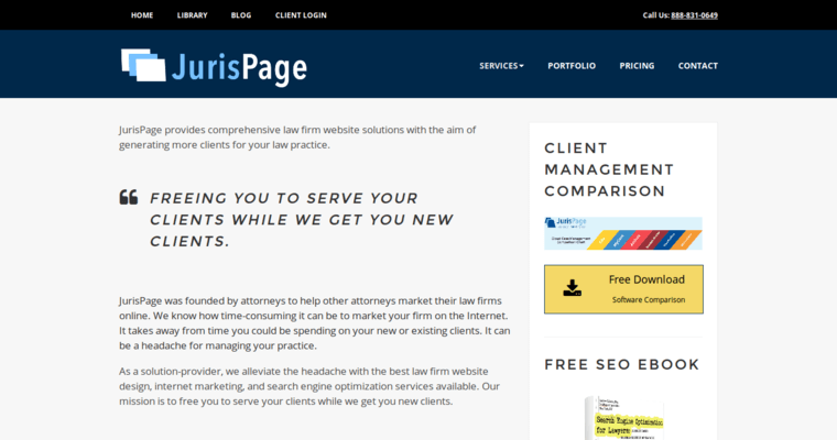 Service Page of Top Web Design Firms in New York: JurisPage