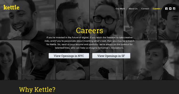 Careers Page of Top Web Design Firms in New York: Kettle