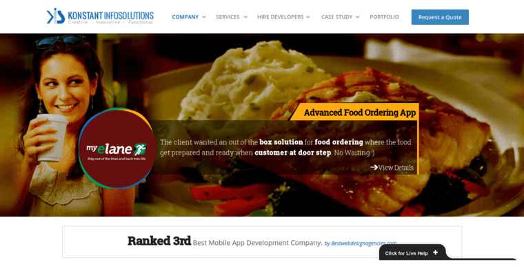 Home Page of Top Web Design Firms in New York: Konstant Infosolutions