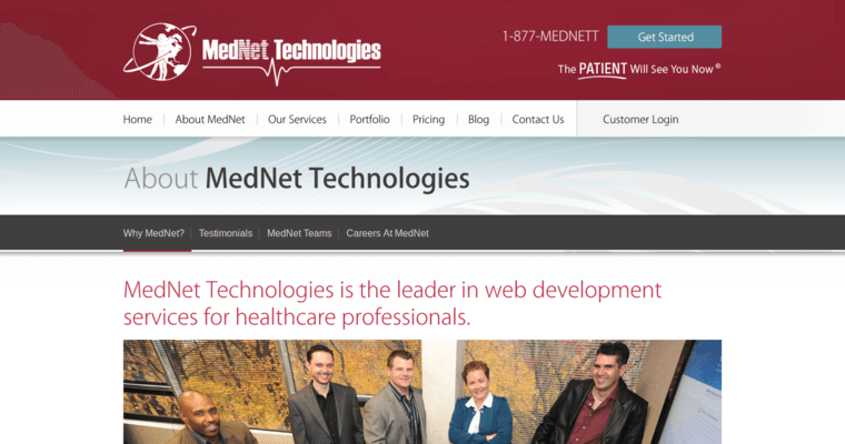 About Page of Top Web Design Firms in New York: MedNet Technologies