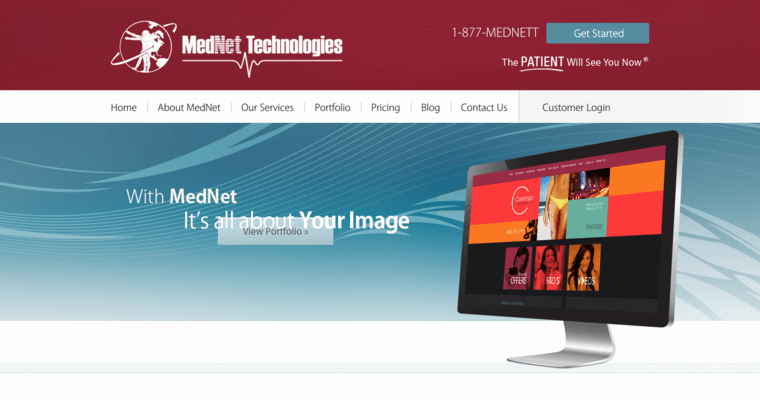 Home Page of Top Web Design Firms in New York: MedNet Technologies