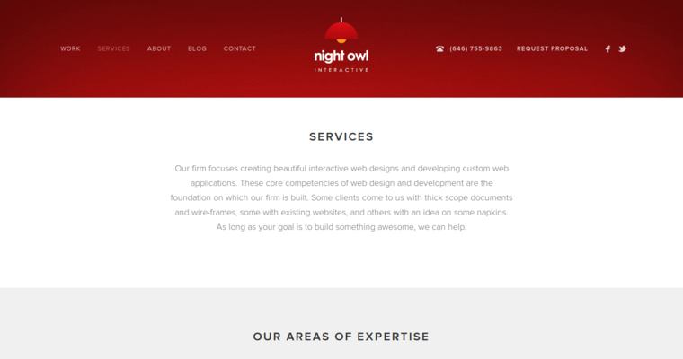 Service Page of Top Web Design Firms in New York: Night Owl Interactive