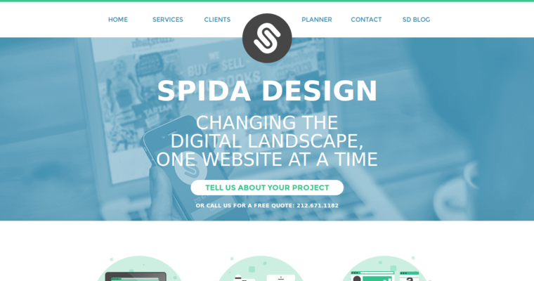Home Page of Top Web Design Firms in New York: Spida Design