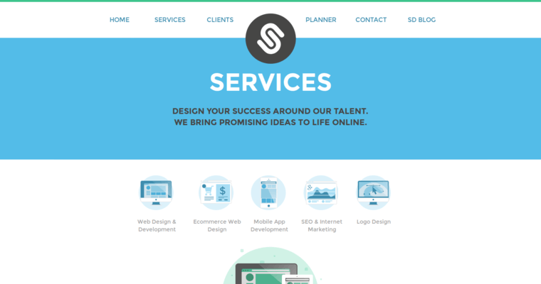Service Page of Top Web Design Firms in New York: Spida Design