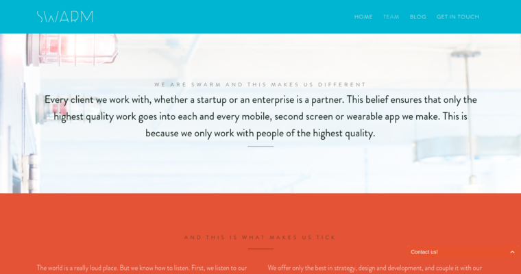 Team Page of Top Web Design Firms in New York: Swarm