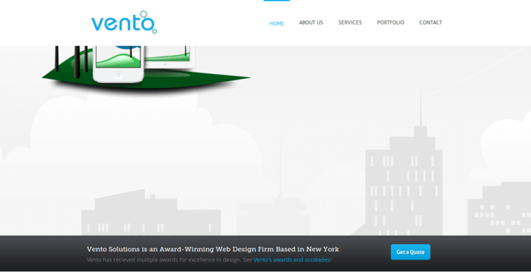Home Page of Top Web Design Firms in New York: Vento Solutions