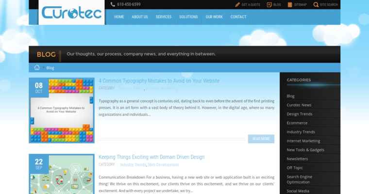 Blog Page of Top Web Design Firms in Pennsylvania: Curotec