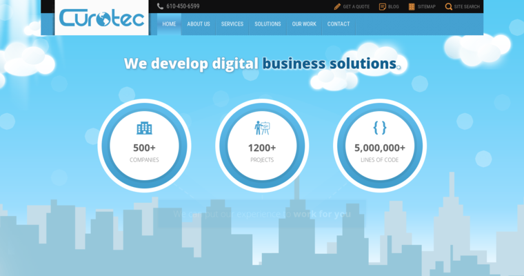 Home Page of Top Web Design Firms in Pennsylvania: Curotec