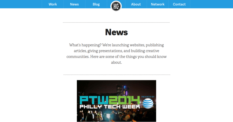 News Page of Top Web Design Firms in Pennsylvania: Happy Cog