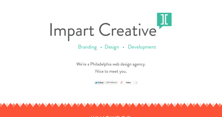 Home Page of Top Web Design Firms in Pennsylvania: Impart Creative