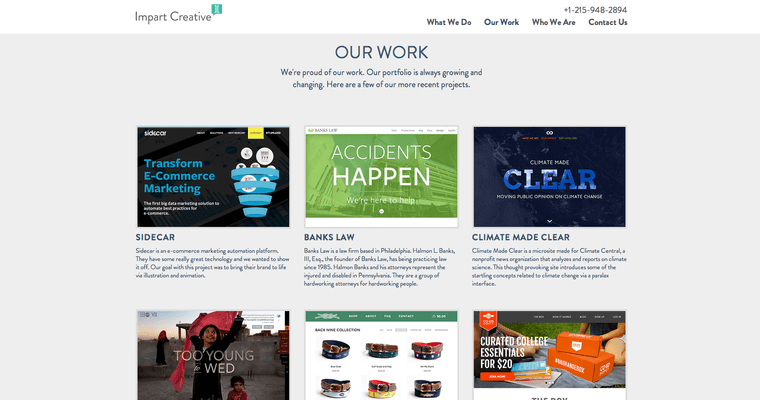 Work Page of Top Web Design Firms in Pennsylvania: Impart Creative