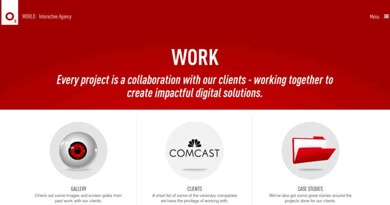 Work Page of Top Web Design Firms in Pennsylvania: O3 World