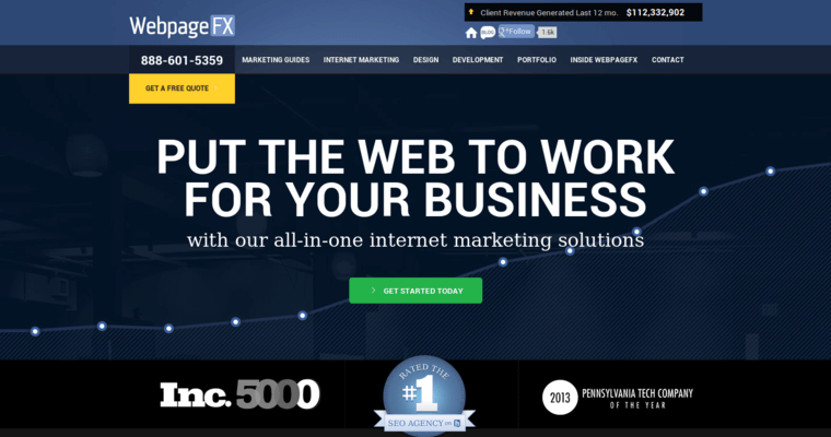 Home Page of Top Web Design Firms in Pennsylvania: WebpageFX