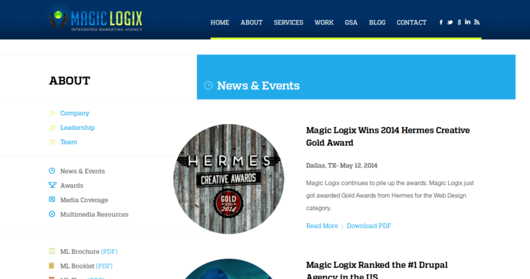 News Page of Top Web Design Firms in Texas: Magic Logix